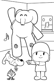 colorear pocoyo spanish coloring pages pinterest spanish