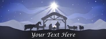 christmas manger christmas nativity banner stock vector illustration of religious