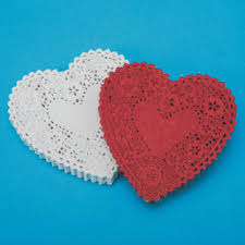 heart shaped doilies buy heart shaped paper lace doilies 4 at s s worldwide