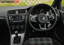 volkswagen golf gti 2015 interior 2014 volkswagen golf gti mk7 review video performancedrive