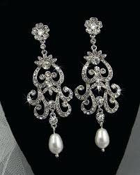 Bridal Chandelier Earrings Bridal Chandelier Earrings With Pearls U2013 Eimat Co