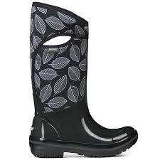 bogs s boots size 9 bogs s plimsoll leafy waterproof winter boots black