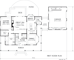 House Plans With Detached Garage And Breezeway First Floor Plan Of The Taylor House Plan Number 427 Donald A