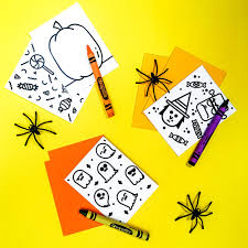 hello wonderful diy mini halloween doodle books with free