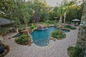 swimming pool with paver deck dallas landscape design abilene