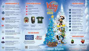 Disney Florida Map by Photos Mickey U0027s Very Merry Christmas Party 2015 Guide Map For