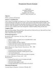 Objective For Receptionist Resume Best University Dissertation Chapter Ideas Manager Facilities