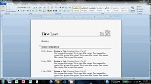 Steps To Write Resume How To Write A Resume Cv With Microsoft Word How To Create A