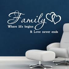 online get cheap wall sticker quotes family life aliexpress com inspirational motto wall art quote wall sticker family where life begins vinyl home decal q048 free