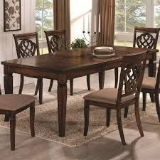 7 piece dining set in oak finish by coaster 103391