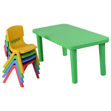 Plastic Table And Chairs Outdoor Kids Colorful Plastic Table And 4 Chairs Set Baby U0026 Toddler