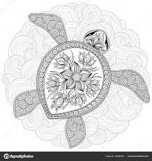 Illustration vectorielle de tortue de mer pour les pages du livre à