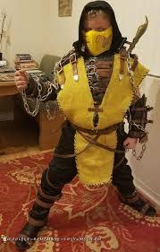 Scorpion Halloween Costume Cool Homemade Scorpion Mortal Kombat Halloween Costume