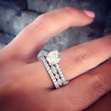 plain engagement ring with diamond wedding band like the idea of this one with the plain engagement ring band but