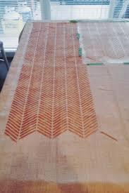 Ikea Blanket How To Stencil A Blanket Using The Herringbone Stitch Pattern
