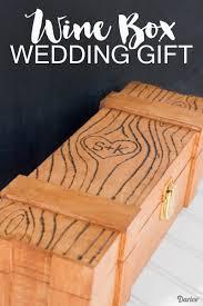 wedding gift diy diy wedding gift idea personalized wine box darice