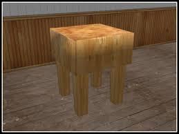 Second Life Marketplace RE Butcher Block Table One Prim - Kitchen butcher block tables