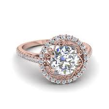 circle engagement rings 18k gold cut halo engagement rings fascinating diamonds