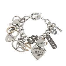 multi heart bracelet images Guess multi hearts rhinestone logo charm bracelet bijoux closet jpg