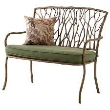 Wrought Iron Bench Seat Lawn Garden Elegant Cast Iron Wood Powder Coated Classic Bench