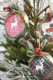diy mason jar lid christmas ornament the everyday home