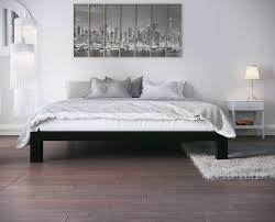 Metal Platform Bed Frames Stella Metal Platform Bed Frame Modern Finish Thick And Wide