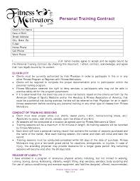 personal training contract agreement dexmedia co personal