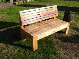 Bench Outdoor Furniture Pallet Outdoor Bench With A Comfort Back 99 Pallets
