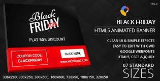 black friday graphics card black friday html5 ad banners by goaldesigns codecanyon