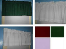 handmade solid cotton hunter green white lavender burgundy curtain