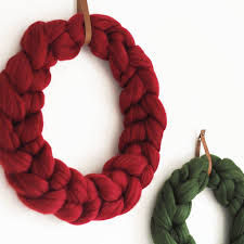 knitted christmas knitted christmas wreath by aston notonthehighstreet