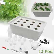 aliexpress com buy 12 holes plant site hydroponic garden pots