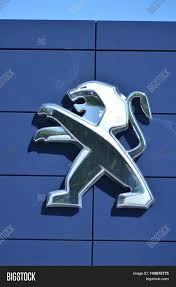 peugeot manufacturer circa august 2016 gdansk logo image u0026 photo bigstock