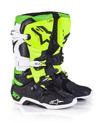 motocross boots cheap alpinestar vegas le tech 10 motocross boots black white green