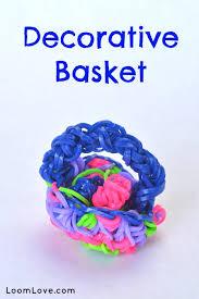 How To Make A Decorative - how to make a decorative rainbow loom basket