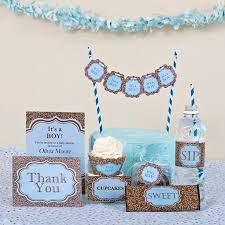 it s a boy baby shower ideas its a boy ba shower party kits cupcake couture boy baby