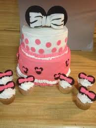 two tier minnie mouse all edible fondant ears and bow facebook
