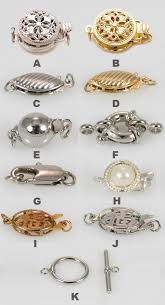 clasps necklace types images Necklace closure types la necklace jpg