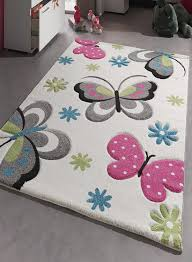 grand tapis chambre fille tapis chambre enfant papillons creme de la collection