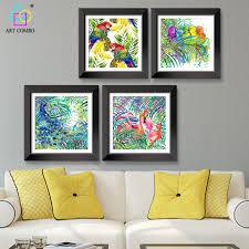 aliexpress com buy modern modular picture animal parrot peacock