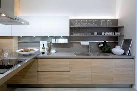 cuisine et blanc photos cuisine gris et bois en 50 modèles variés pour tous les goûts