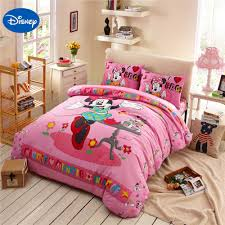 popular minnie mouse bedding buy cheap minnie mouse bedding lots dance minnie mouse bedding sets cotton bedclothes cartoon disney print bed covers girls bedroom decor twin