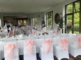 white wedding chair covers best white chair covers u pale baby pink sashes bron eifion