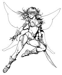 warrior baby angels coloring pages fairy warrior ink by snigom