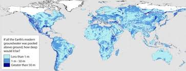 map of eart map of world s groundwater shows planet s reservoirs