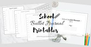 printable bullet journal planner free art lettering and school printables