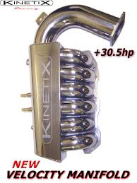 nissan 350z hr hp 350z kinetix racing velocity manifold 30 5hp gains at 6800 rpm