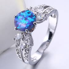 blue opal engagement rings opal wedding rings wedding rings wedding ideas and inspirations