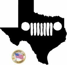 jeep decals 6 texas jeep grill decals stickers die cut jk rubicon wrangler