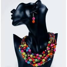 resin beaded necklace images Resin beads jewelry set serengeti jpg
